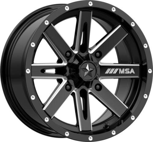 Milled 4//110 -47mm M41-14710 MSA M41 Boxer 14x7 ATV//UTV Wheel