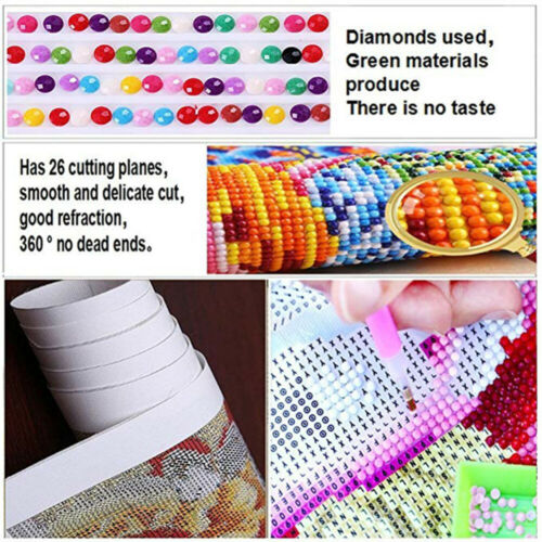 Round 5D Diamond Painting Art Craft Girl In The Sunset Stitch Kits Decor Gifts
