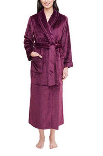 Color Eggplant Variety of Sizes NWT Carole Hochman Ladies/' Plush Wrap Robe