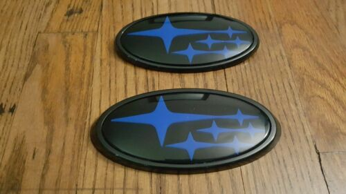 NEW Front /& Rear Glossy Black Badge Emblem For 2015-Up subi impreza wrx sti