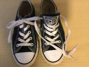 e9018d818fc8c1 GUC Youth Size 13 Black Converse All Star Low Top Tennis Shoes