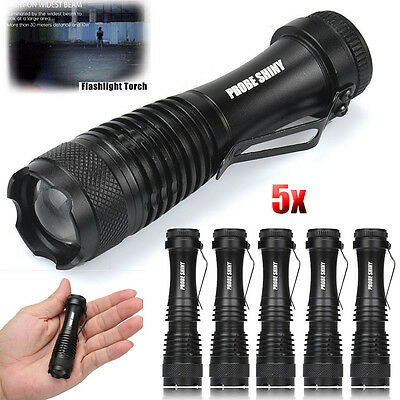 3000LM Mini Q5 LED Flashlight 3 Modes Zoomable Super Bright   AA//14500 Torch