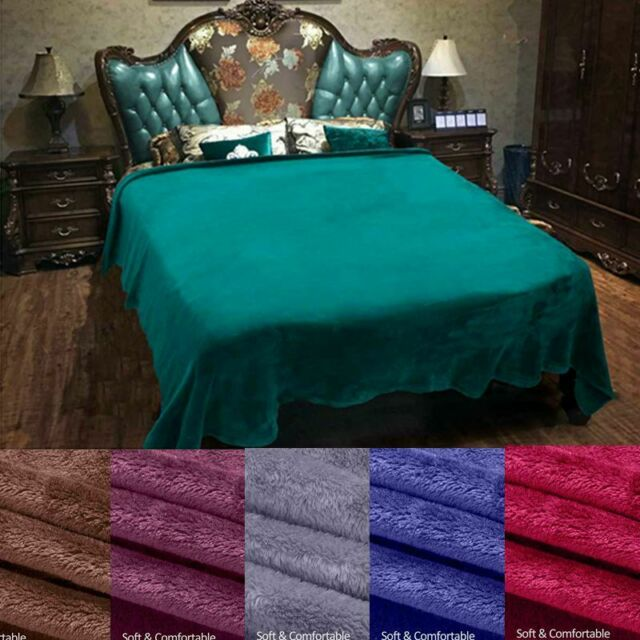 Comfort Soft Warm Flannel Fleece Blanket Cozy Plush Throw for Bed Couch Sofa