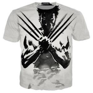 5d87cbf4c Wolverine Logan Marvel Comics X-Men Avengers T-Shirt 3D Print Men ...