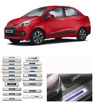 Car Door LED Sill Scuff Plate FootSteps for Hyundai Xcent