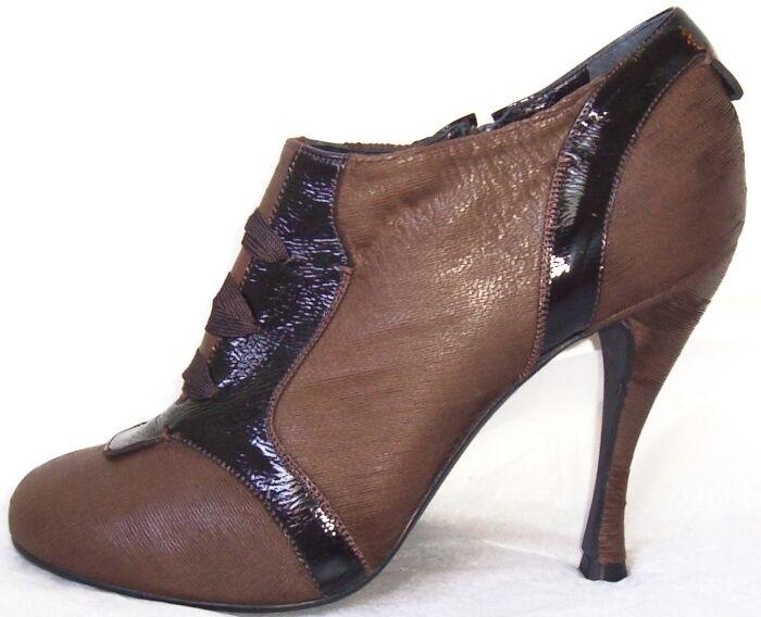 ROCHAS braun Distressed Distressed Distressed Goat Skin schuhe Stiefelie Stiefel 40 10 2a561c