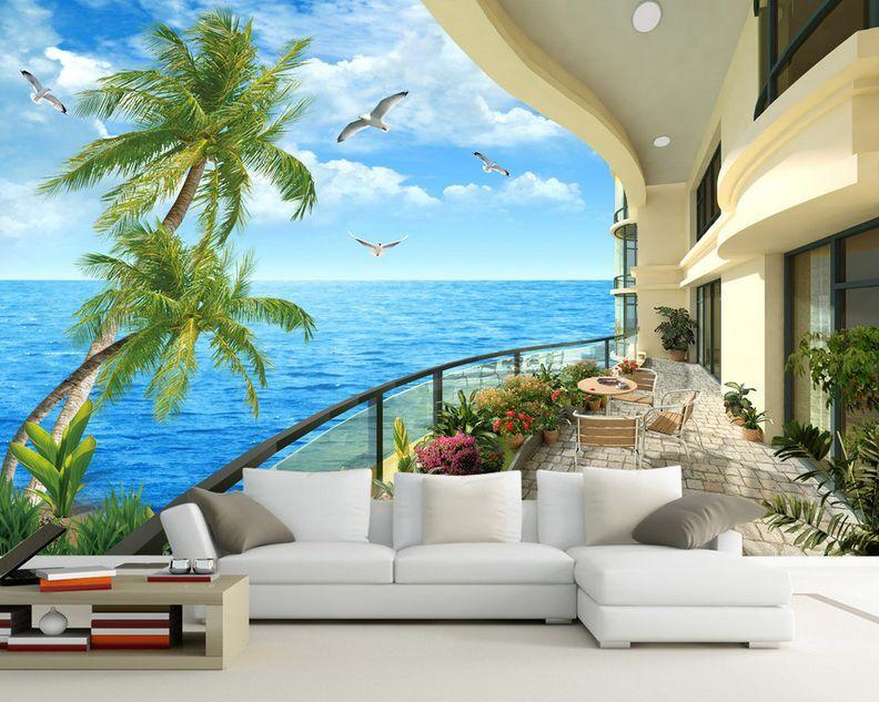 3D Sea Schön Scene Balcony 35 Wand Papier Wand Drucken Decal Wand AJ Wand Papier