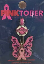Hard Rock Cafe GUAM USA 2014 Pinktober Breast Cancer BUTTERFLY GUITAR PIN HRC