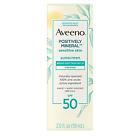 Aveeno Positively Mineral Sensitive Skin Sunscreen 2 Oz SPF 50 Zinc Oxide