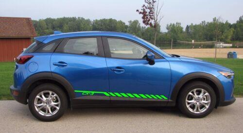 Racing Graphic Stripe Car Vinyl Decal Sticker for Mazda CX-3 2015-2018