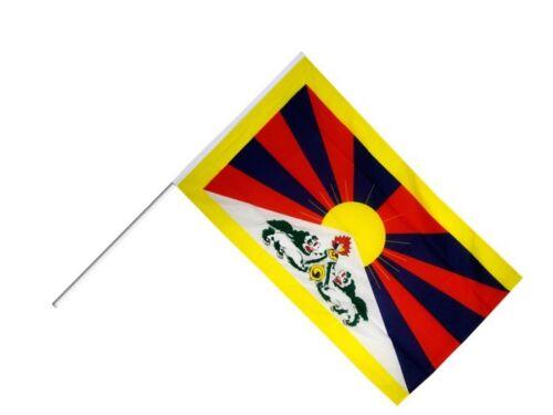 Bâton Drapeau Bâton Drapeau Tibet 60x90cm Drapeau Drapeau Avec Bâton