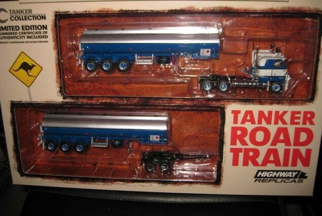 1 64 HIGHWAY REPLICAS KENWORTH  TANKER ROAD TRAIN  TRUCK & TRAILER