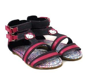 55fb3fd07 Hello Kitty Infant Girls Denim Alalea Touch Riptape Summer Sandals ...