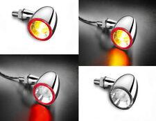 2 St/ück Blinker R/ücklicht LED Bullet chrom