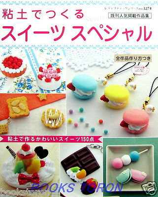 Clay Pretty Sweets Special 150 items /Japanese Handmade Craft Pattern Book
