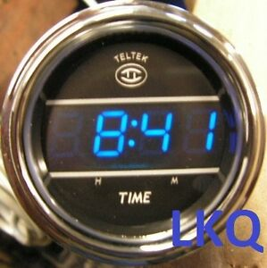Details about PETERBILT BLUE DIGITAL TELTEK DASH CLOCK VOLVO/MACK 243