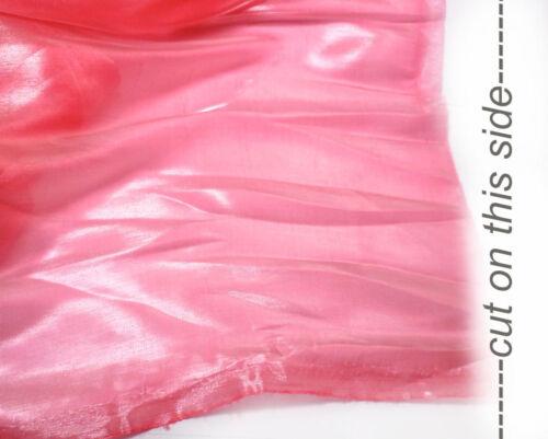 K24 PER METER Coral Pink Mirror Organza Sheer Fabric Dress//Decorative Material