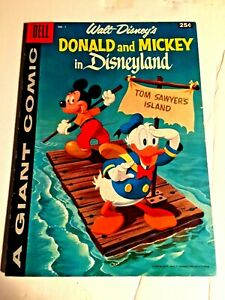 Walt Disney's Donald and Mickey in Disneyland #1 1958 a Dell Giant VF-NM