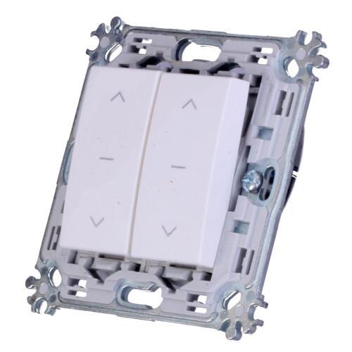 doppel Jalousie Schalter Modul Weiß TEM Schalterprogramm UP Unterputz