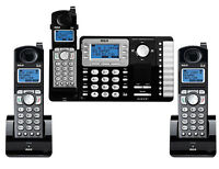 3 Set Rca Business Phone Telephone 2-line 25252 + 2 25055re1 Cordless Handsets