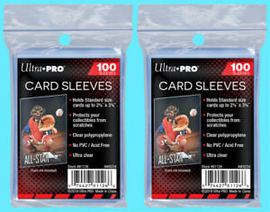 200-ULTRA-PRO-Soft-CARD-SLEEVES-NEW-No-PVC-Penny-Plastic-Sports-Trading-Baseball