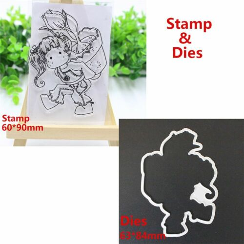 Lovely Girl Clear Metal Cutting Dies Stencils Album Paper Cards Decorative DIY..