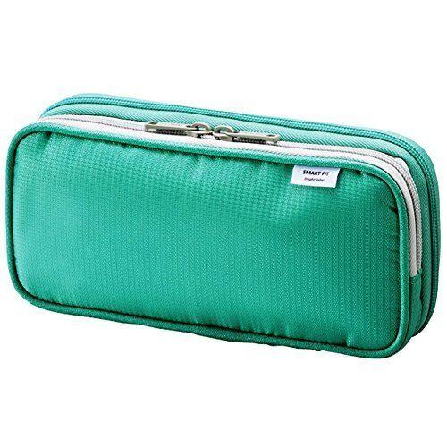 Lihit Lab. Inc double pen case L Green A7661-7