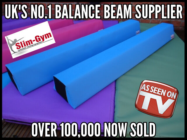 NEW PRODUCT BY SLIM-GYM GYMNASTIC GYM FOAM TRAINING BALANCE BEAM 8FT 'AQUA blueE'