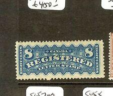 CANADA  (P2609B) REGISTER 8C BLUE  SGF8 BRILLIANT COLOR MOG