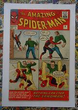 AMAZING SPIDER-MAN #4 - SEPT 1963 - 1st SANDMAN APPEARANCE!  - FN- (5.5) PENCE!