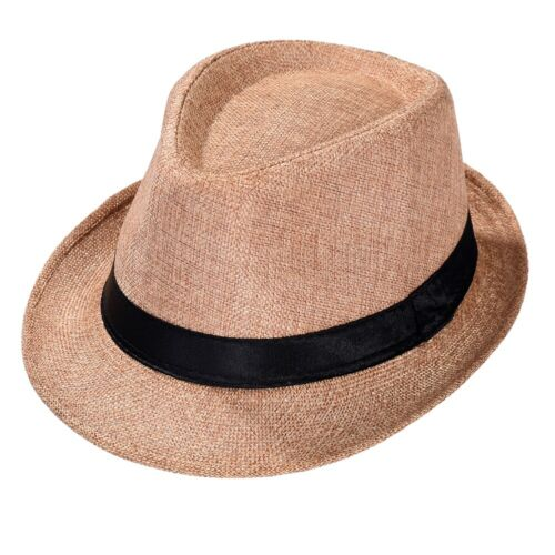 Strohhut Panama Fedora Trilby Gangster Hut Sonnenhut Sommerhut Strandhut Mütze
