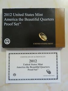 2012-S-Clad-America-the-Beautiful-Quarters-Proof-set-with-Box-and-COA