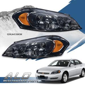 Fit For 06-13 Chevy Impala/06-07 Monte Carlo Amber Corner Smoke Lens Headlights