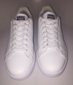 best website 0d298 0733b Image is loading Adidas-Neo-Cloudfoam-Memory-Footbed-White-Sneakers-Size-