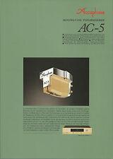 Accuphase ac-5 Catalogo Prospetto Catalogue datasheet brochure