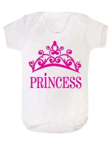 Princess girls baby grow bodysuit vest funny humour gift