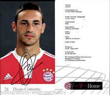 Diego Contento Bayern München 2009-10 Orig.Sign. +C 244