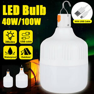 100W-40W-LED-Camping-Light-USB-Rechargeable-Outdoor-Tent-Lantern-Hiking-Lamp
