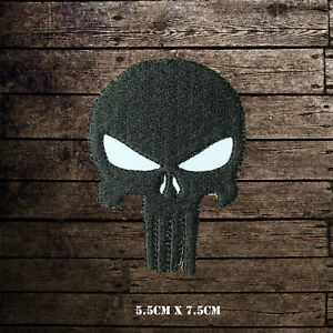 Punisher-Skull-Embroidered-Iron-On-Sew-On-Patch-Badge-For-Clothes-etc