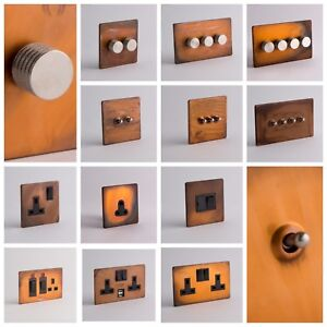 DESIGNER-SOCKETS-AND-SWITCHES-Tarnished-Copper-with-Silver