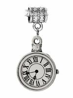 Stopwatch Non-working Clock Watch Time Dangle Charm For European Bead Bracelets