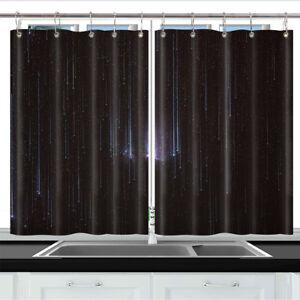 Cosmic Meteor Shower Kitchen Curtains 2 Panel Set Decor