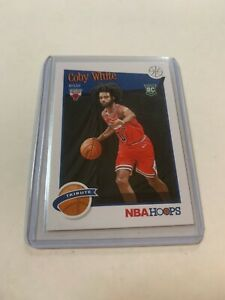 2019-20-Panini-NBA-Hoops-Coby-White-RC-Rookie-295-Tribute-Chicago-Bulls