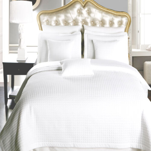 Luxury Checkered Quilted Wrinkle Free Coverlets Bedspread 2-3 Piece Set