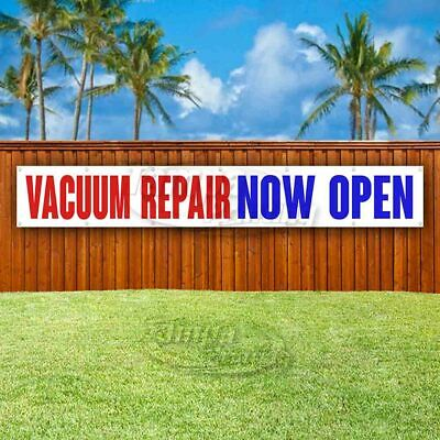 Vacuum Repair Now Open Extra Large 13 oz Heavy Duty Vinyl Banner Sign with Metal Grommets New Flag, Store Advertising Many Sizes Available