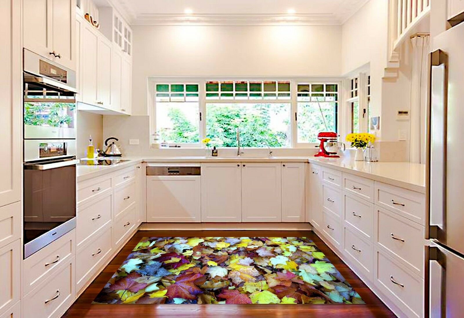 3D color Leaves 4 Kitchen Mat Floor Murals Wall Print Wall Deco AJ WALLPAPER AU