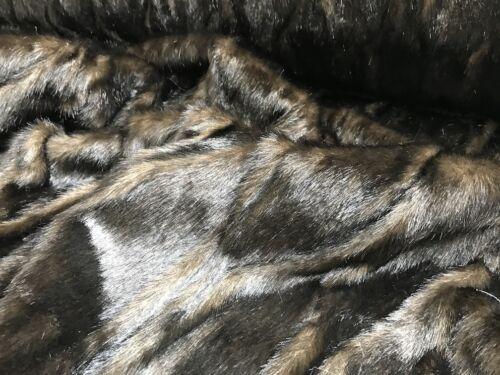 Webpelz Kurzhaar kuscheliges Kunstfell Stoffe Dekoration MLT01D Braun Dunkel B