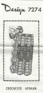 Crocheted-Afghan-Pattern-7274-Vintage-New