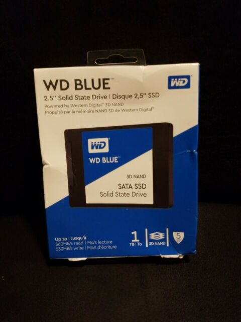 "New in Sealed Retail Box - WD Blue 1TB 3D NAND SATA III 2.5"" Internal SSD"