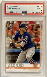 2019 Topps #475 Pete Alonso PSA Mint 9 RC New York Mets
